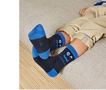 Kid's Weekday Socks, Green/Blue/Beige/Navy Blue