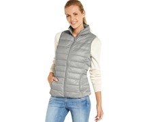 Women's Quilted Jacket, Sleeveless, Light gray