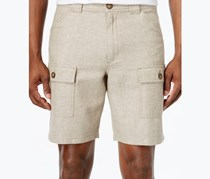 Tasso Elba Linen Shorts, Safari Tan Combo