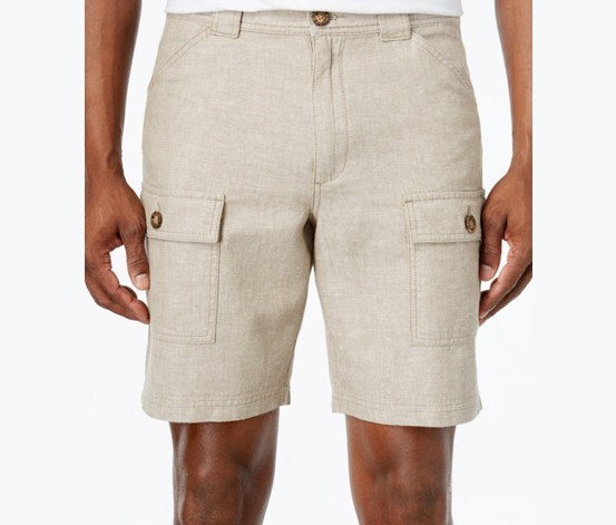 Linen Shorts, Safari Tan Combo
