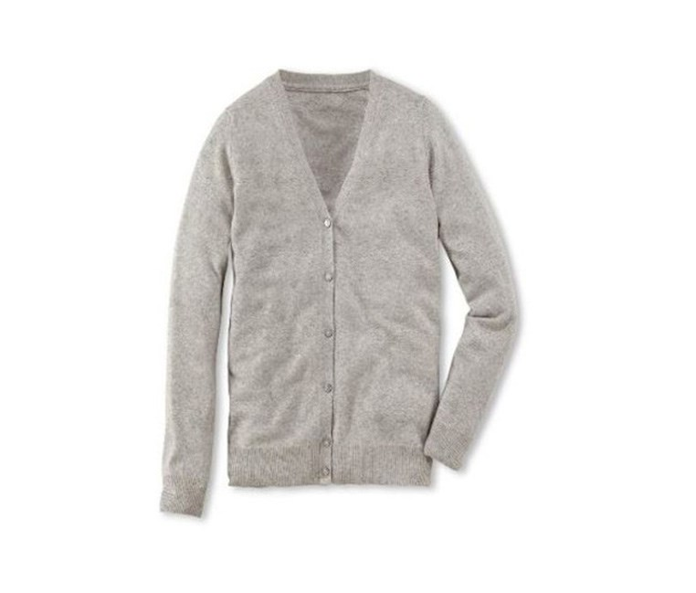 Women's Cashmere Cardigan, Gray