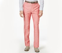 INC Neal Linen Regular Fit Pants, Coral