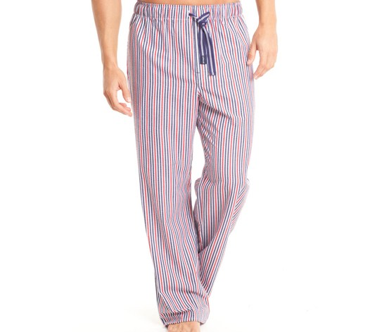 Papi Seersucker Sleep Pant,Navy/Red