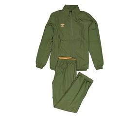 Umbro Men's 2 Pieces Velocita Woven Suit, Rifle Green/Orange