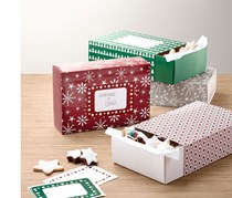 Cookie Box Set, Large, Green/Red/White