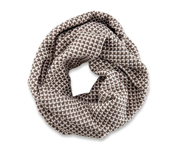 Womens Knitted Fleece Scarf, Beige  Brands For Less