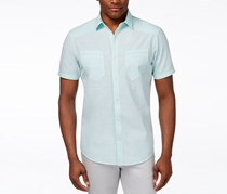 Inc Men's Duck Dive Short Sleeve Shirt, Aqua Ice