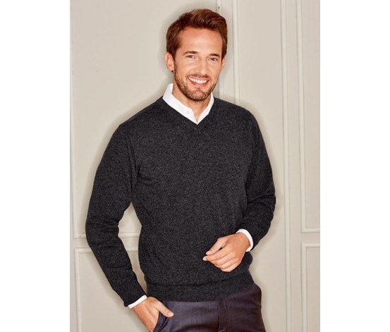 Men's Pullover, Cashmere, Anthracite