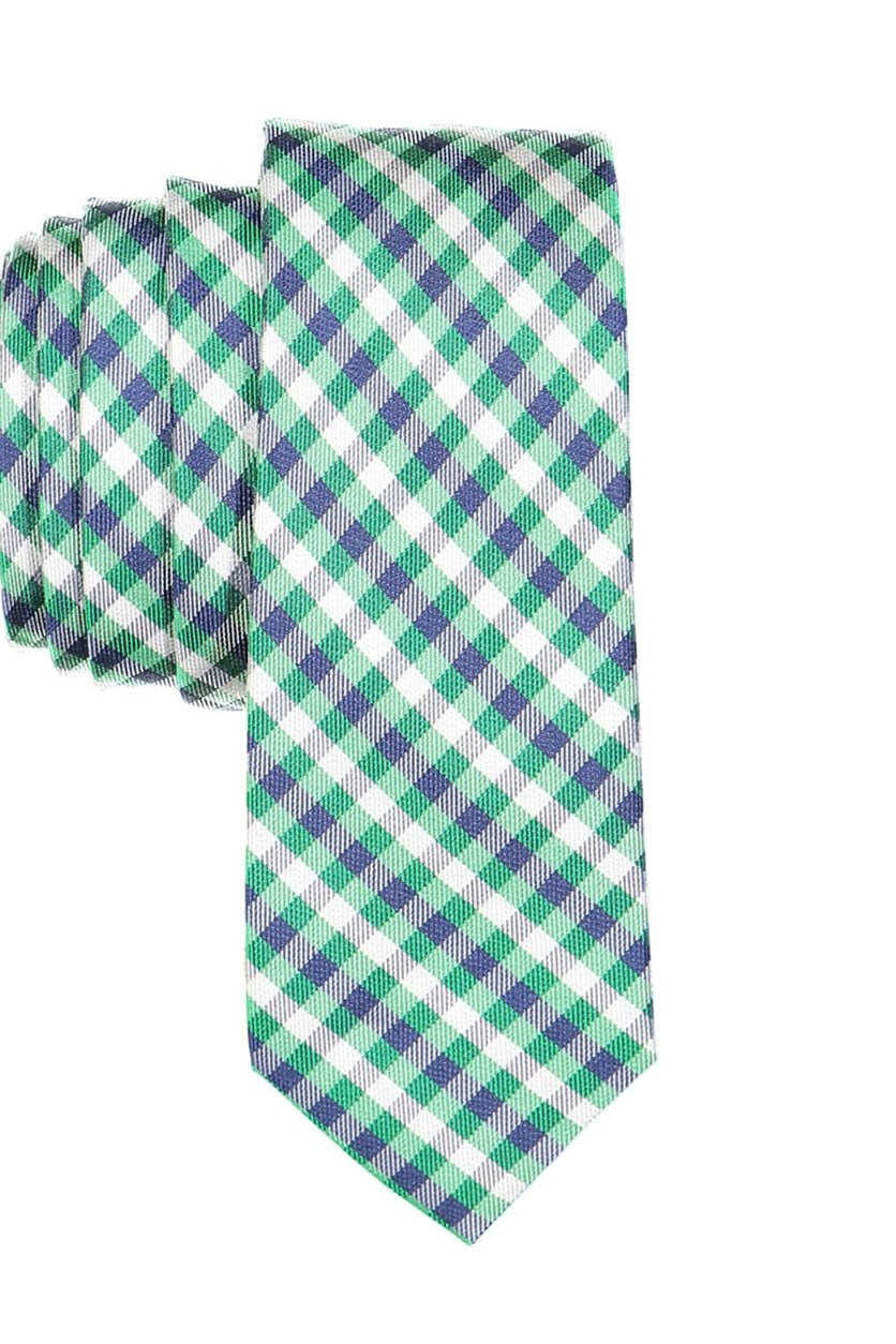 Boy's Plaid Neck Tie, Green