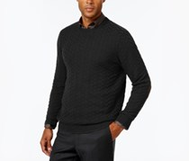 Men's Chevron Sweater, Deep Black