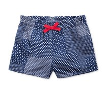 First Impressions Ruffle-Waist Patchwork Shorts, Medieval Blue
