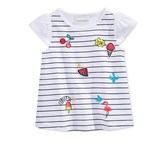 First Impressions Little Girls Graphic-Print Cotton T-Shirt, Bright White