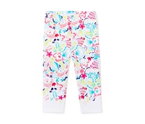 First Impressions Tropical-Print Leggings, White Combo