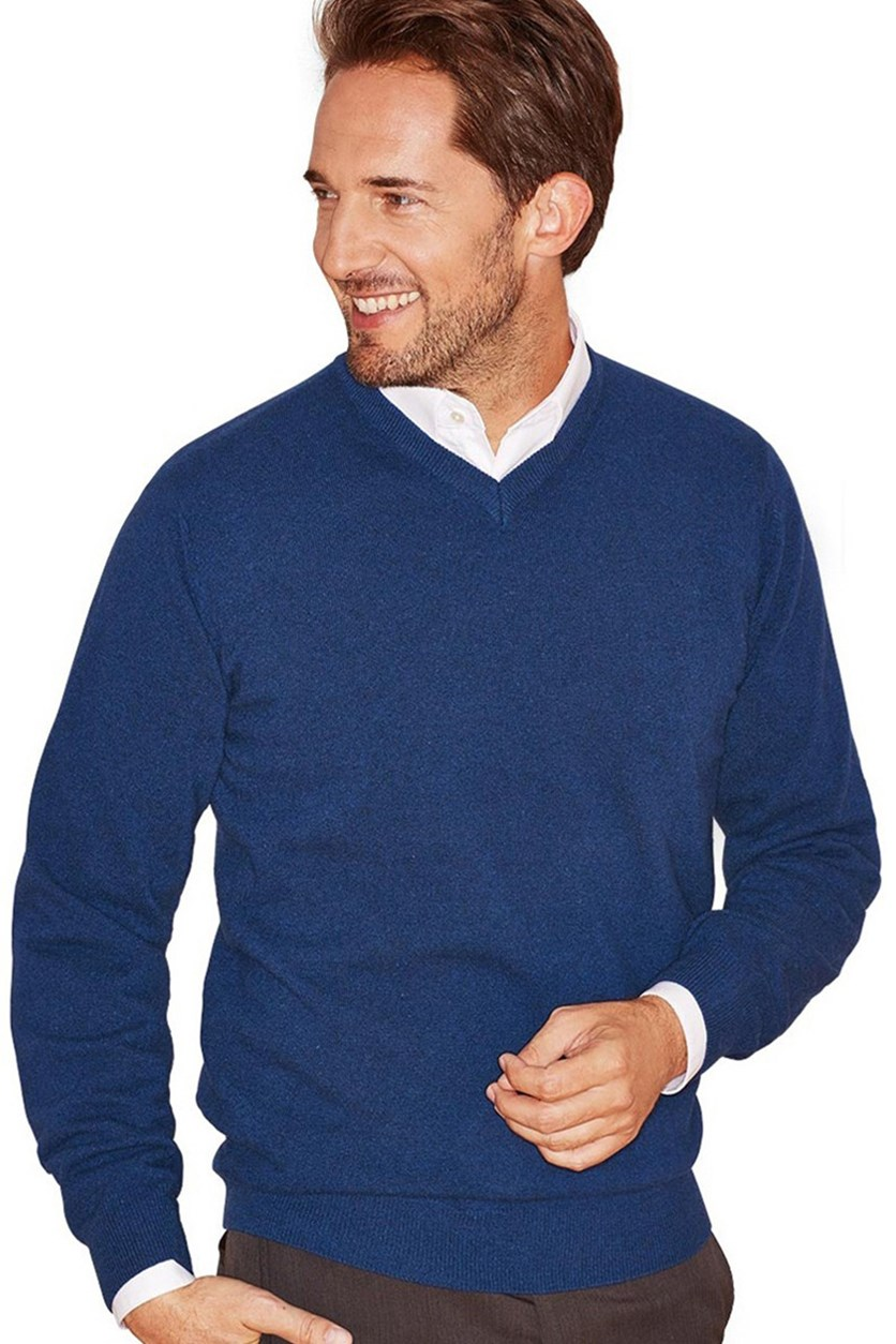 Men's Pullover Cashmere, Blue