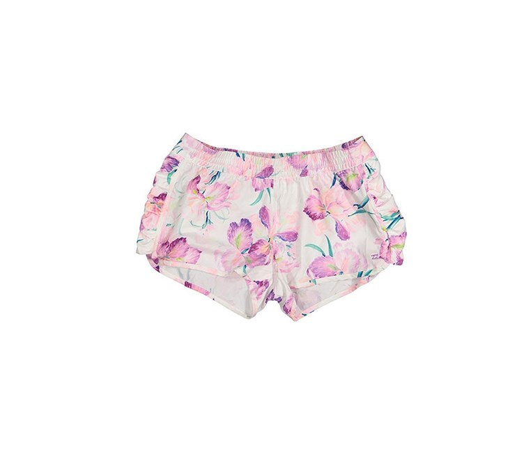 Women's Floral Print Short, White
