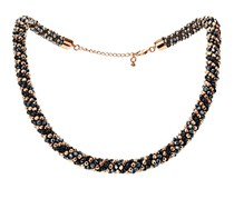 Women's Necklace, Anthracite/Rose Gold/Black