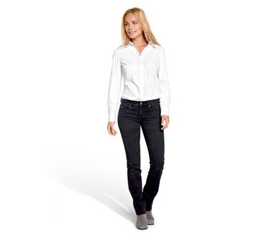 Women's Jeans, Straight, Black Denim