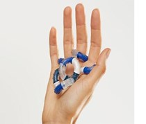 Finger Training Tangle, Blue/White