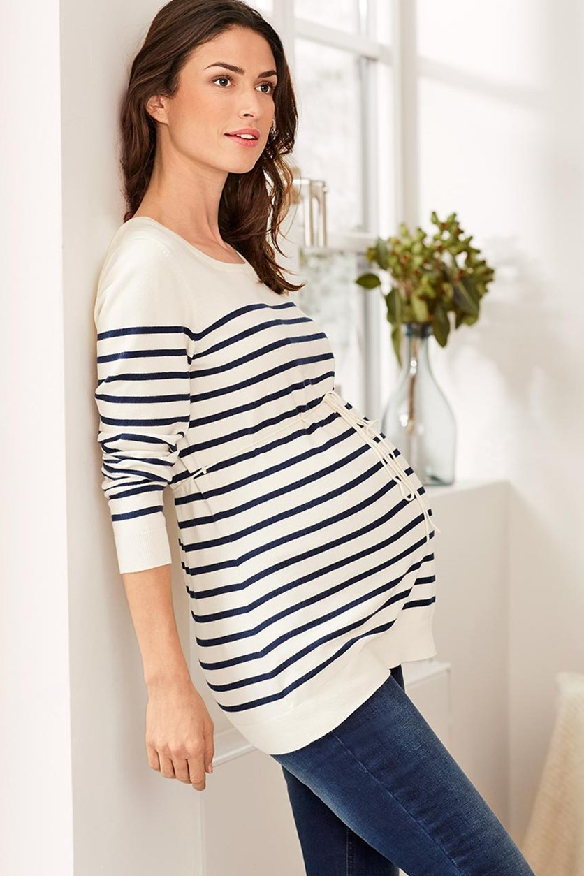 Women's Maternity Pullover, Dark Blue