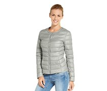 Women Down Quilted Jacket, Grey