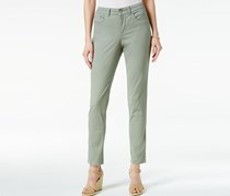 Charter Club Petite Bristol Solid Skinny Ankle Jeans, Sage Green