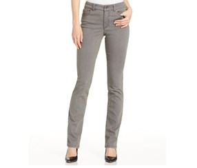 Charter Club Tummy-Slimming Straight-Leg Jeans, Canyon Grey