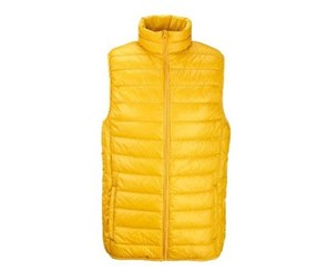 Men's Quilted Sleeveless Jacket, Yellow