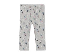 First Impressions Feather-Print Leggings, Heather Storm
