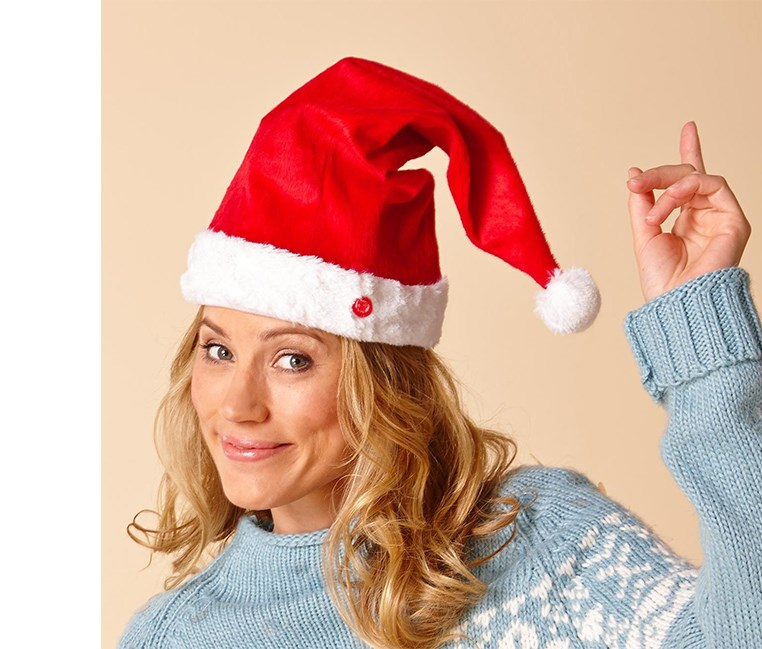 Singing Christmas Hat, Red