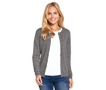 Women's Cashmere Cardigan, Heather Gray