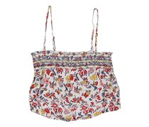 Ecote Women's Printed Cropped Top, Red/Beige/Gray/Yellow