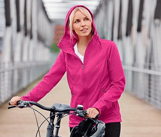 Women's Softshell Jacket, Fuchsia