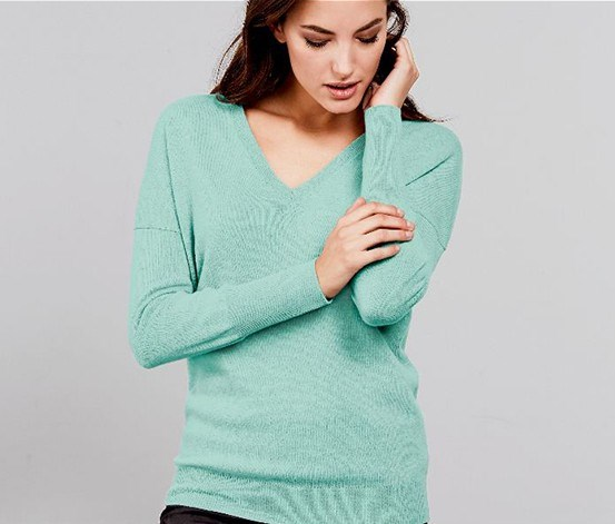 Women's Pullover, Turquoise