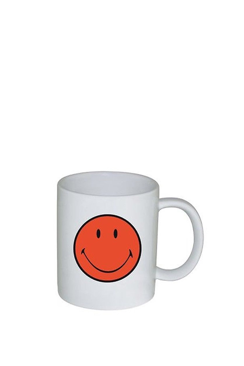 ZaK! Designs Smiley Coffee Cup, Coral/White