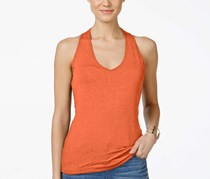 INC International Concepts V-Neck Halter Top,Coral Melon