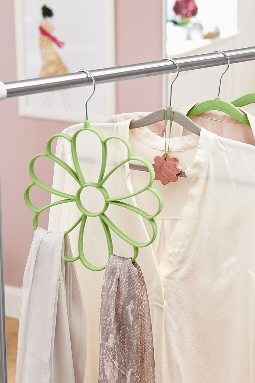 Hanger for Scarves, Flower, Green