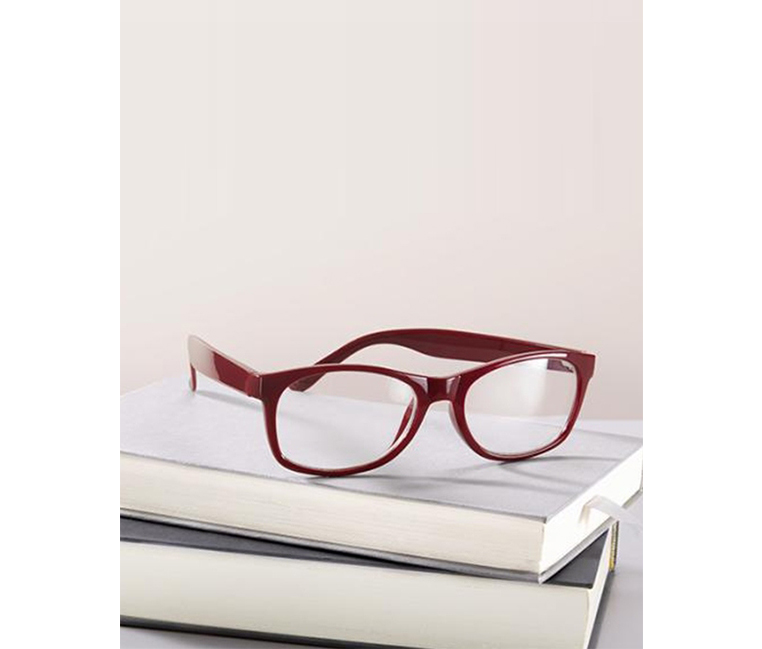 Women's Spare reading glasses,  Red