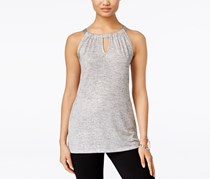 INC International Concepts Petite Shine Halter Tank Top, Silver
