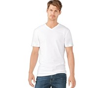 Men's V-Neck Shirt, Set of 2, White