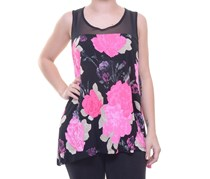 INC International Concepts Printed Tank Top, Sweet Peonies