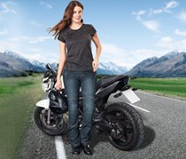 Women's Jeans, Motorbike, Denim Blue