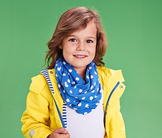 Kids Loop Scarf, Blue