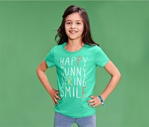 Girls T Shirt, Green