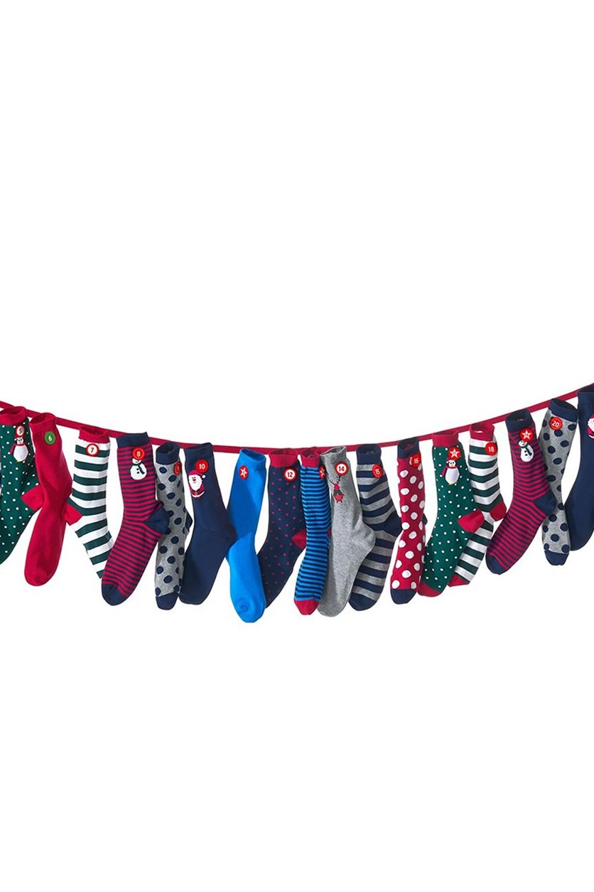 Kid's Calendar Socks, 24 Digits