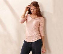 Women's Ribbed T shirt, Rose