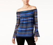 International Concepts Off-The-Shoulder Printed Top