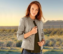 Women's Biker Jacket, Gray