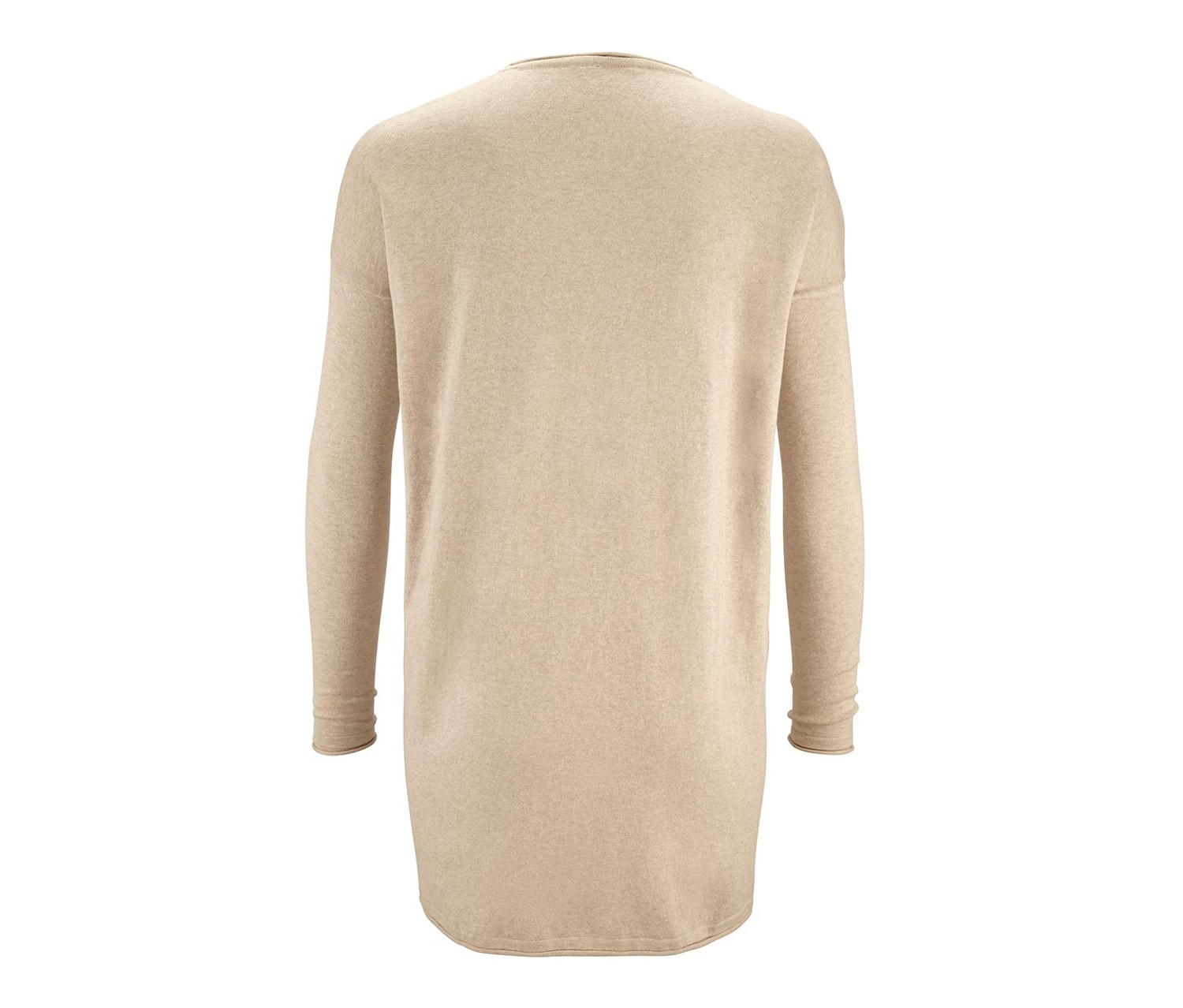 Womens Cardigan, Fine Knit, Beige  Brands For Less