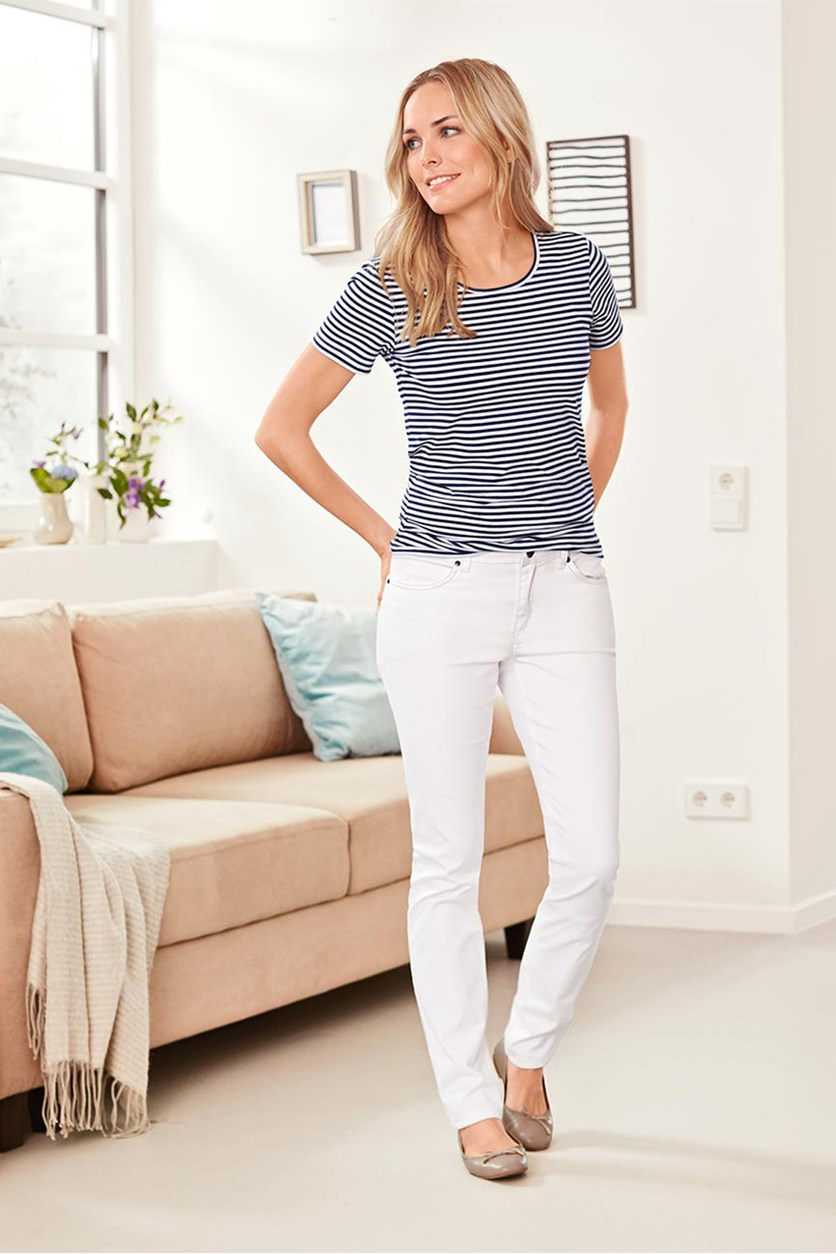 Women's Jeans, Slim fit, White