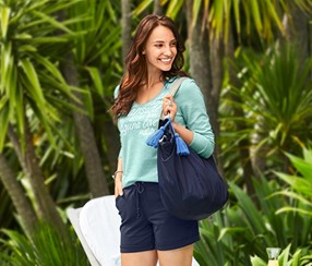 Women's Beach Bag, Blue
